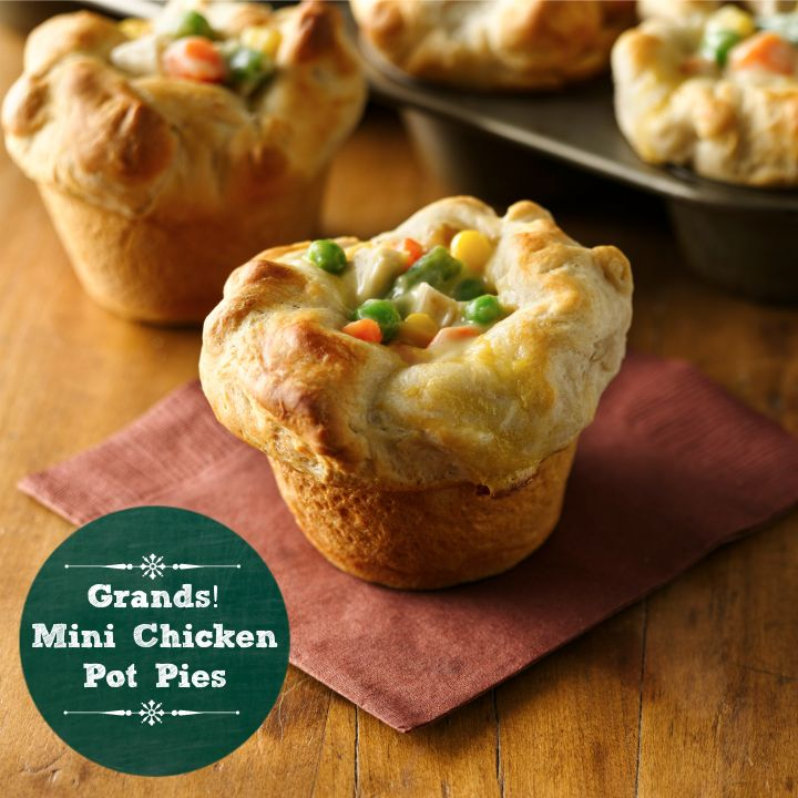 Pillsbury Grands Mini Chicken Pot Pies Whipped up with just four ingredients? Could be dangerously good!