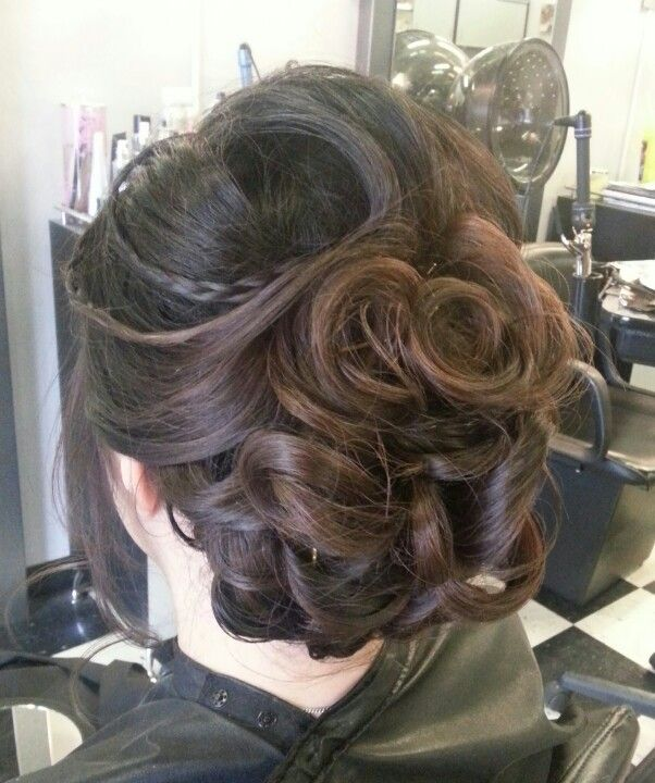 Braid With Curls Could Have The Back Hanging In Loose