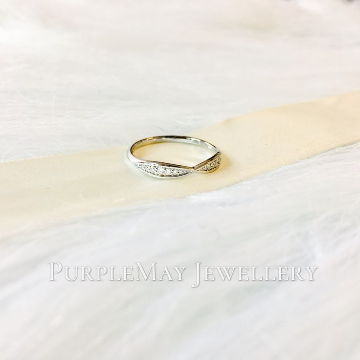 Diamond Harmony 18K White Gold Band