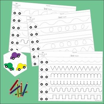 These handwriting games are designed for little fingers to encourage fine motor development. A set of three games is included in the pack.