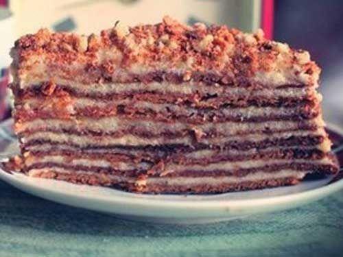 Торт с заварным кремом «Бабушкин Рыжик»