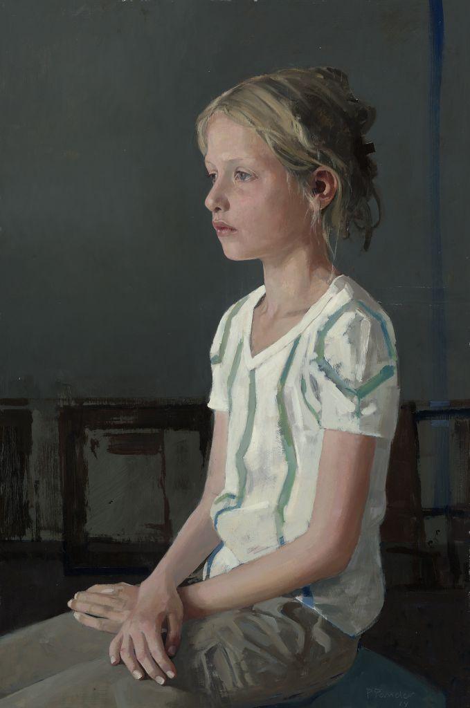 Pieter Pander, 'Hanna', Olie op paneel - 60x40 cm 2014