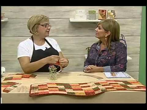 Caminho de Mesa com Ondas com Ana Cosentino - Vitrine do Artesanato na TV - YouTube