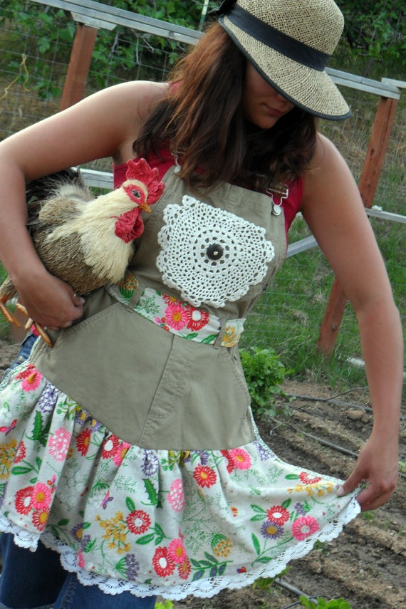 Farmgirl Apron. Made form bibs and I like the khaki for a change from denim.