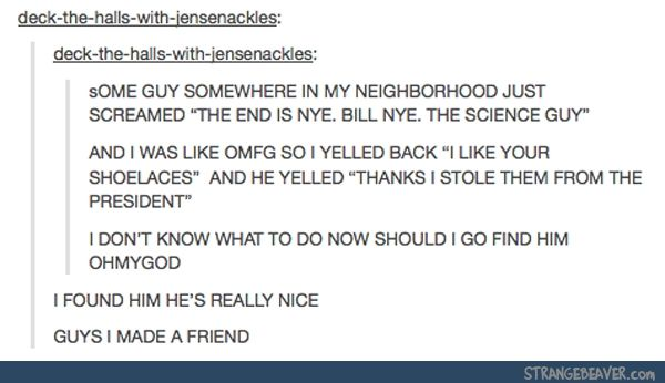 Stories like this with tumblrians making friends are my new favorite thing<THE CODE GUYS. ITS WORKING