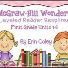 First Grade Leveled Reader Response Bundle: McGraw-Hill Wonders Units 1-6 - These leveled reader response sheets are a fun and interactive way for your students to respond to their leveled readers during guided reading. Thi...