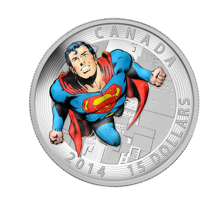 The Trinity 2016 Pure Silver Coloured Coin 1 oz DC Comics TM Originals