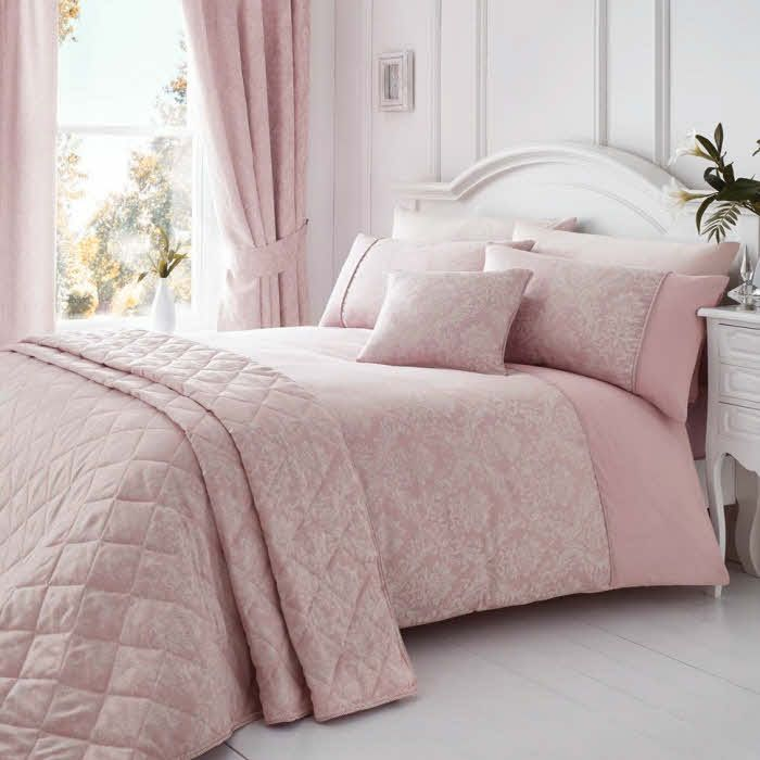 Traditional Duvet Cover Sets And Accessories In This Lovely Pink Colour.