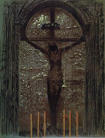 Leon Wyczółkowski - Krucyfiks wawelski, 1903