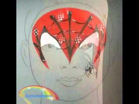 Spiderman facepaint designs