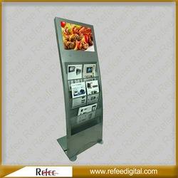 15 to 26 inch magazine brochure leaflet newspaper holder advertising display stand floor metal display