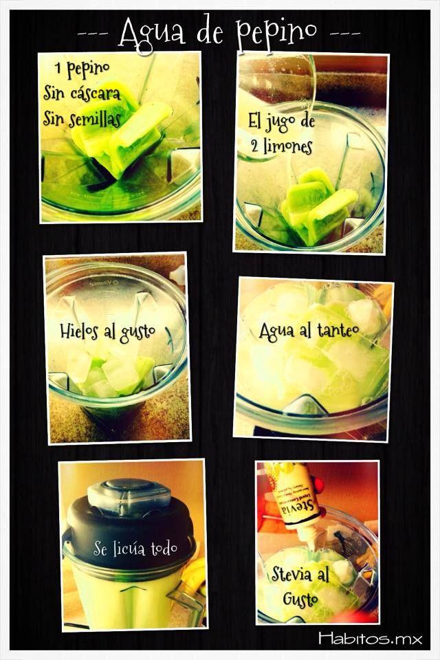 rica agua de pepino! :)