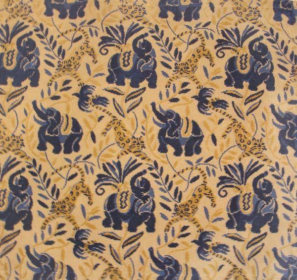 "Fragment of Cotton Velvet ""La Jungle"" designed by Raoul Duffy ( 1877- 1953) Circa 1919 . Woven by Bianchini et Feriier. Lyon,France"