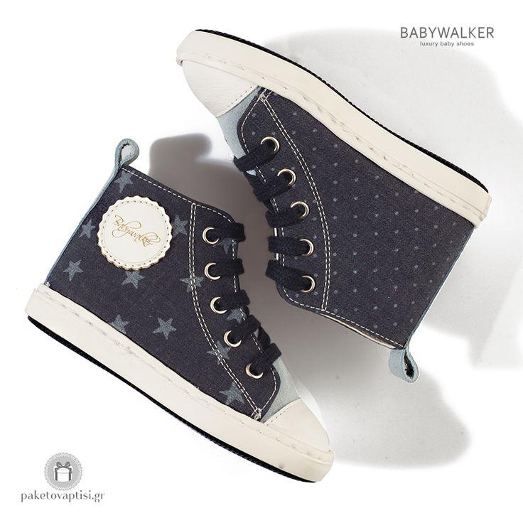 Δετά Υφασμάτινα Μποτάκια Sneaker για Αγόρια Babywalker BW4063