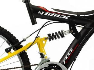 Bicicleta Aro 26 Full Suspension 18 Marchas - Freios V-Brake Track & Bikes TB-100