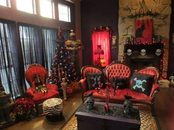 21 Stylish Living Room Halloween Decorations Ideas: 559 Best Furniture DIY (Gothic, Steampunk, Antique