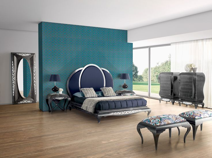 New York blue bedroom  Jetclass | Real Furniture Luxury Interior Design