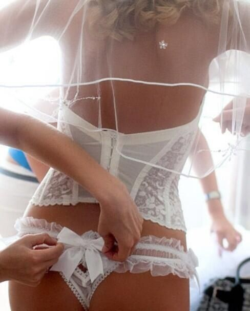 Every woman needs wedding day lingerie.