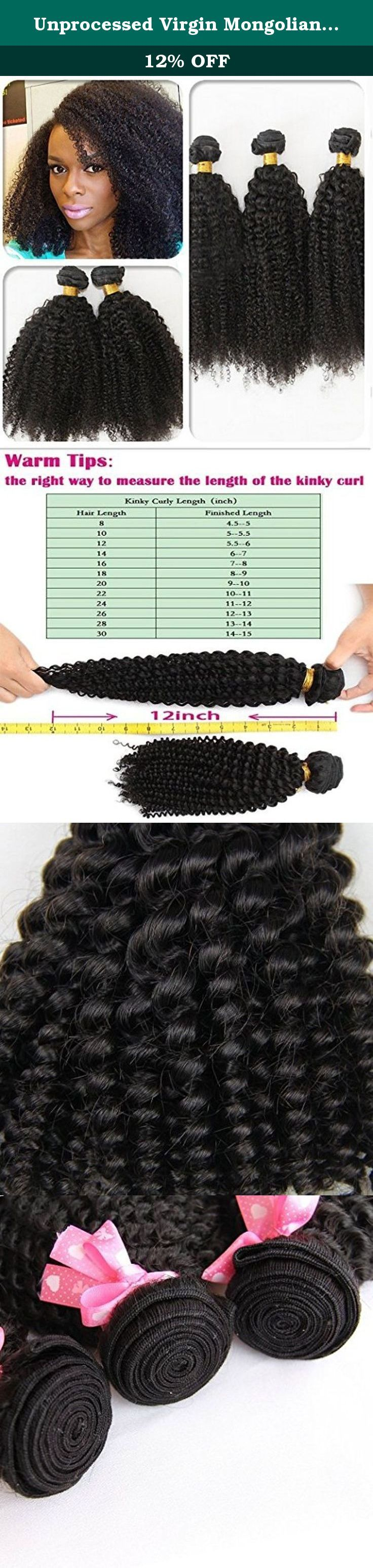 """Unprocessed Virgin Mongolian Afro Kinky Curly Hair Extensions for Black Women 12''. Hair Parameter 1)Hair Material:100% virgin Mongolian Human hair 2)Hair Colour:natural black color/1b 3)Hair Grade:5A Grade (virgin Mongolian hair remy hair) 4)Hair Length:8"""", 10"""", 12"""", 14"""", 16"""", 18"""", 20"""", 22"""", 24"""", 26"""", 28"""",30"""" 5)Hair Weight:100gram/pc Totally 300grams for 3pcs 6)Available Texture: Natural Straight,Body Wave,Deep Wave,Kinky Curl,Jerry Curl,Deep Curl,Loose Weave etc, or custom as ur need…"""