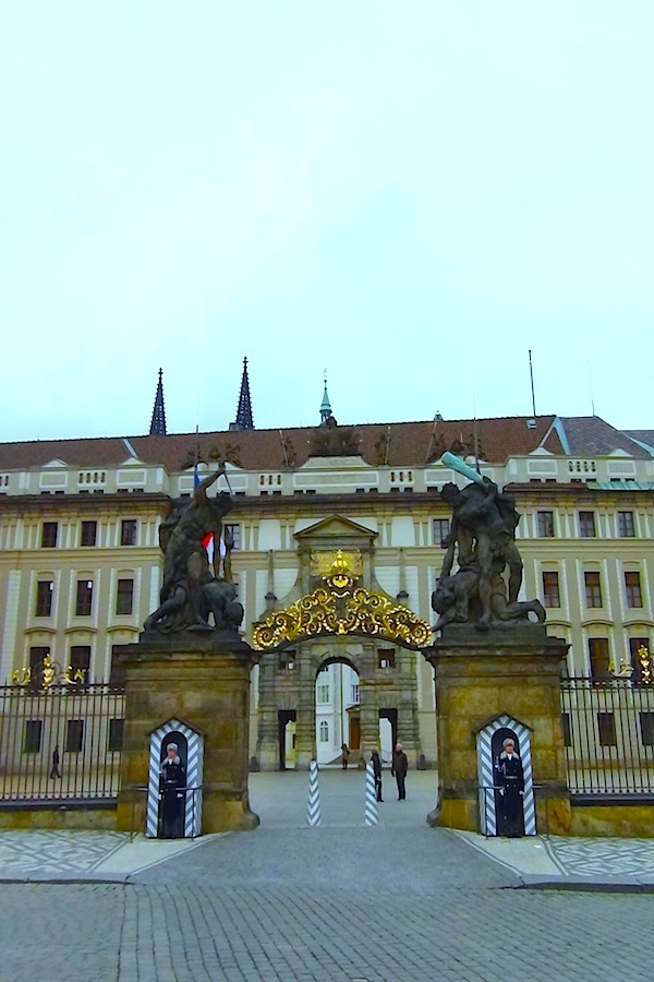 March 18, 2013. The Castle hill dominates the city of Prague, this is one of the ornate entrance to such amazing complex. www.traveladept.com