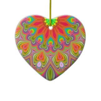 Ambrosia Delight Fractal Heart Ornament