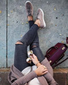 Jeans: tumblr grey sneakers sneakers low top sneakers sunglasses mirrored sunglasses bracelets black #winter #fashion #clothing