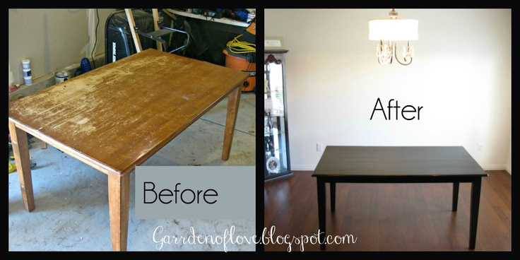 Refinishing kitchen table paint techniques pinterest - Refinished kitchen table ...