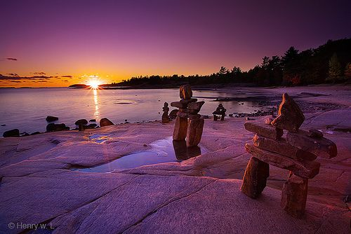 Sunset at Killbear Provincial Park, Ontario