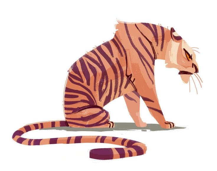 264: Tiger  Trying a few new things. Always have a fun time drawing tigers…