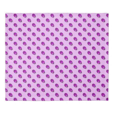 Ladybug in pink/purple duvet cover #cute #doona #kids #kidsroom