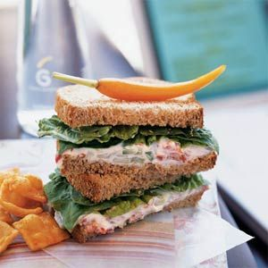 Roasted Red Pepper Spread Sandwiches | MyRecipes.com