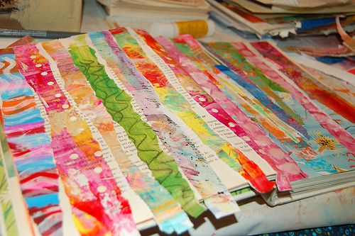Fun idea with paper strips --- check it out!