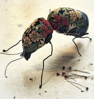 Mister Finch, the gifted textile artist