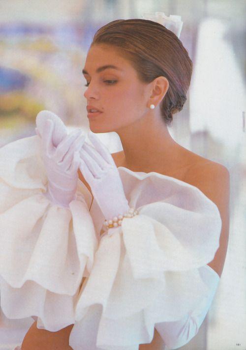 "80s-90s-supermodels:  ""L'ete Star"", Vogue France, 1988Photographer: Patrick DemarchelierModel: Cindy Crawford"