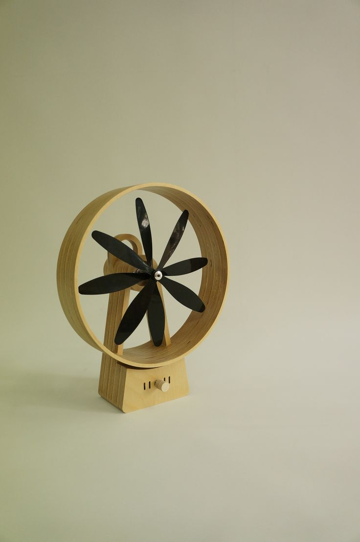 Wooden Fan - 12V electric fan, birch plywood, Sunghyun An