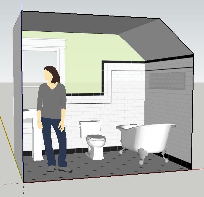 New Designs In Sketchup: Google Sketchup Rendering, Door Wall Removed