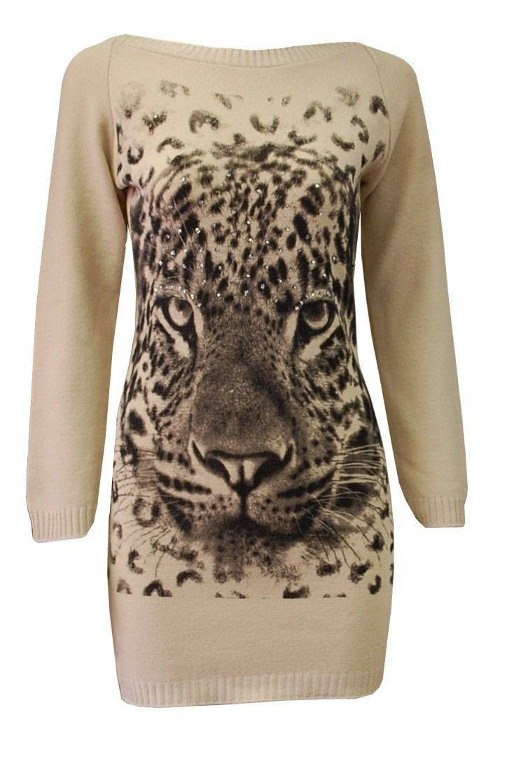 This leopard knit dress made me look.  Actually it made me GASP!  I love it… and the reviews are saying that it is really soft material too so it won't be itchy