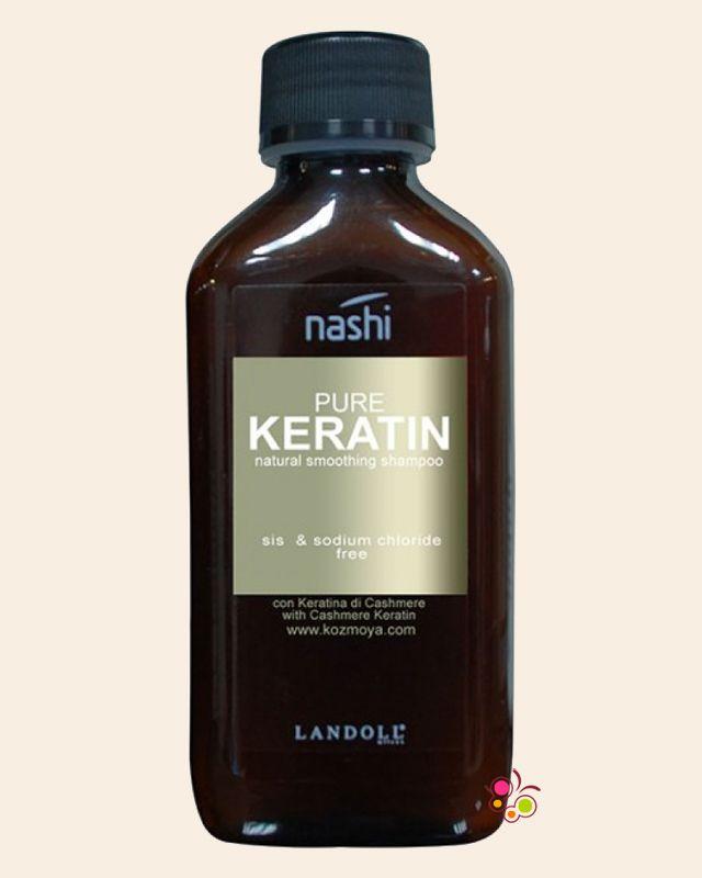 NASHI Pure Keratin Asi ve Kabarık Saçlar İçin Düzleştirici Sülfatsız Şampuan 200 ml