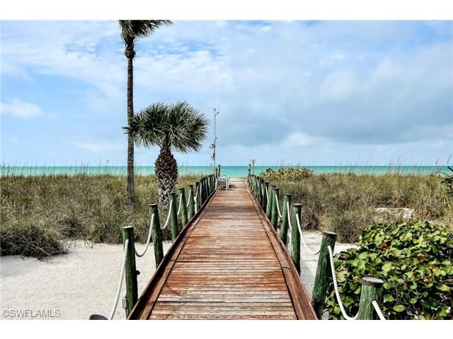 Board walk to the Gulf of Mexico.  Barefoot Beach   Bonita Springs, Florida