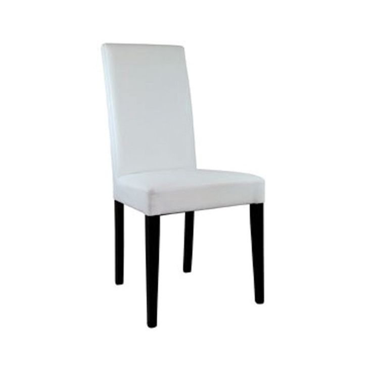 Palmanova Chair - White - The Palmanova chair has a modern and minimalist design suitable for hospitality areas, VIP dining areas, feature areas and also conferences. A contemporary and classy high back and luxuriously thick seat pad which is entirely covered in leather with wooden legs.