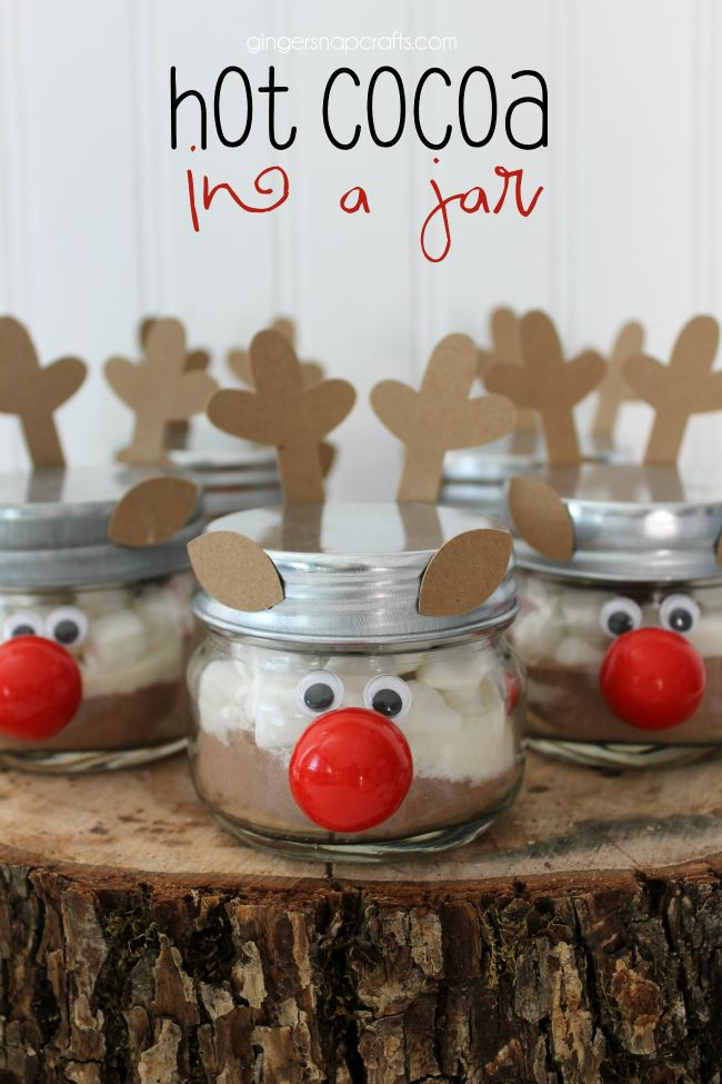 Hot Cocoa in a Jar at GingerSnapCrafts.com