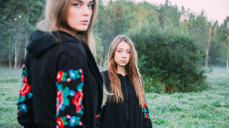 Cosy coat and bomber-jacket with traditional embroidery based on Belarusian folk culture. Learn more at xoroshedesign@gmail.com