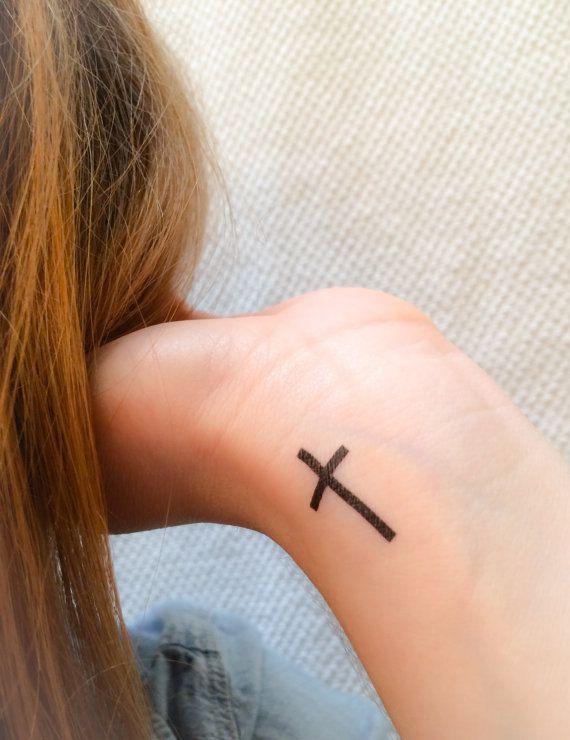 4 Kreuz temporäre Tattoos SmashTat von SmashTat auf Etsy