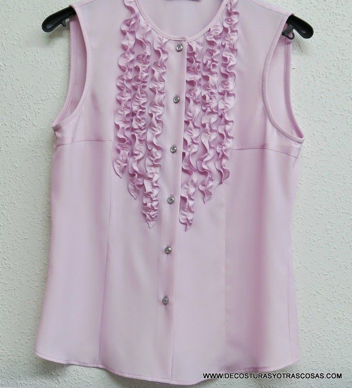 Making ruffles on a blouse. Instructions on LiveInternet - Russian Service Online Diaries