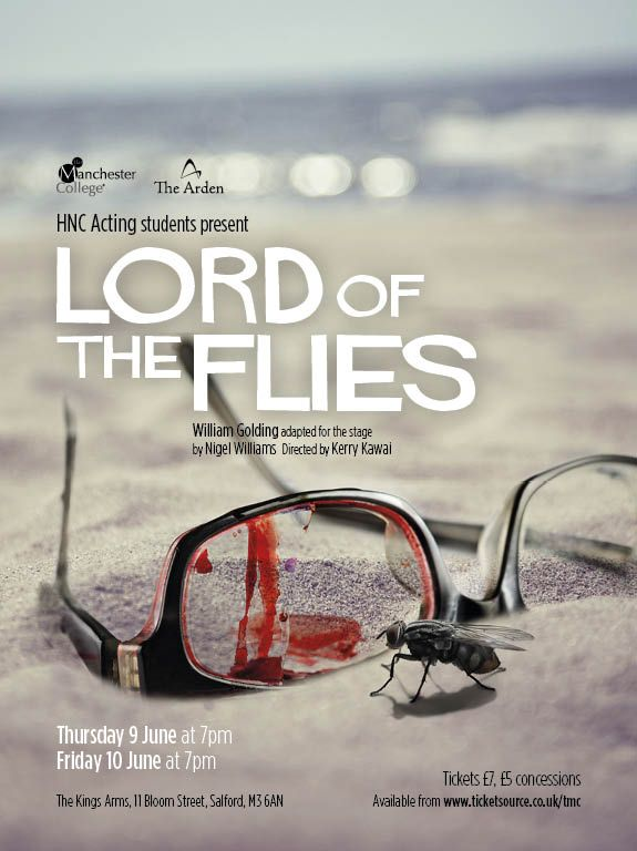 Poster for 'Lord of the Flies', performed by The Arden School of Theatre. Designed by Sarah Cleworth