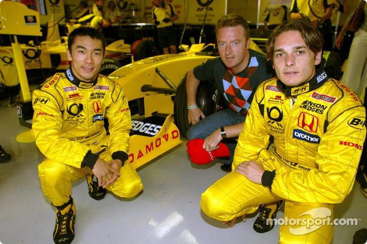 Jordan 2002 with Takuma Sato and Giancarlo Fisichella