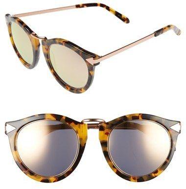 Women's Karen Walker 'Harvest - Superstars' 51Mm Retro Sunglasses - Crazy Tort With Rose Gold