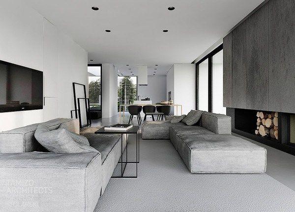 White, black & grey (by Tamizo Architects)