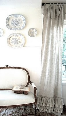 Cottage by Design with Trish Banner The ruffled bottom curtains