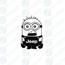 Jeep minion decal sticker wrangler patriot patriot cherokee indoor outdoor